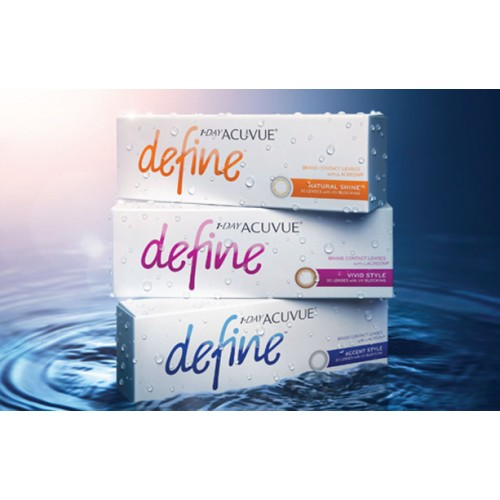 1-Day Acuvue Define Accent cosmetic contact lenses