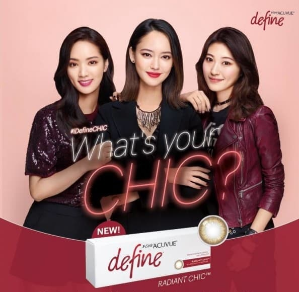 1-Day Acuvue Define Radiant Chic Contact lenses