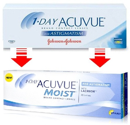 1-Day Acuvue Astigmatism / 1 Day Acuvue Moist  for Astigmatism