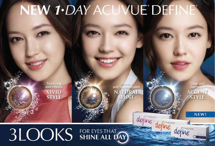 1-Day Acuvue Define Accent/ Vivid / Natural Shine