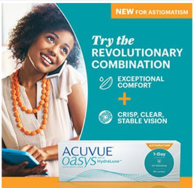 Acuvue Oasys Hydraluxe for Astigmatism
