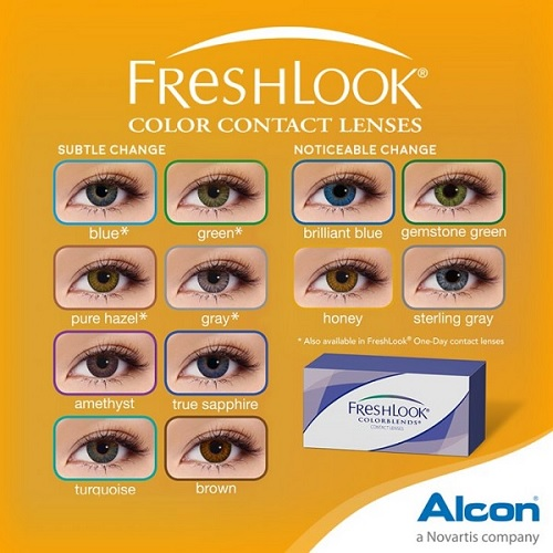 Freshlook ColorBlends Colors Contact Lenses