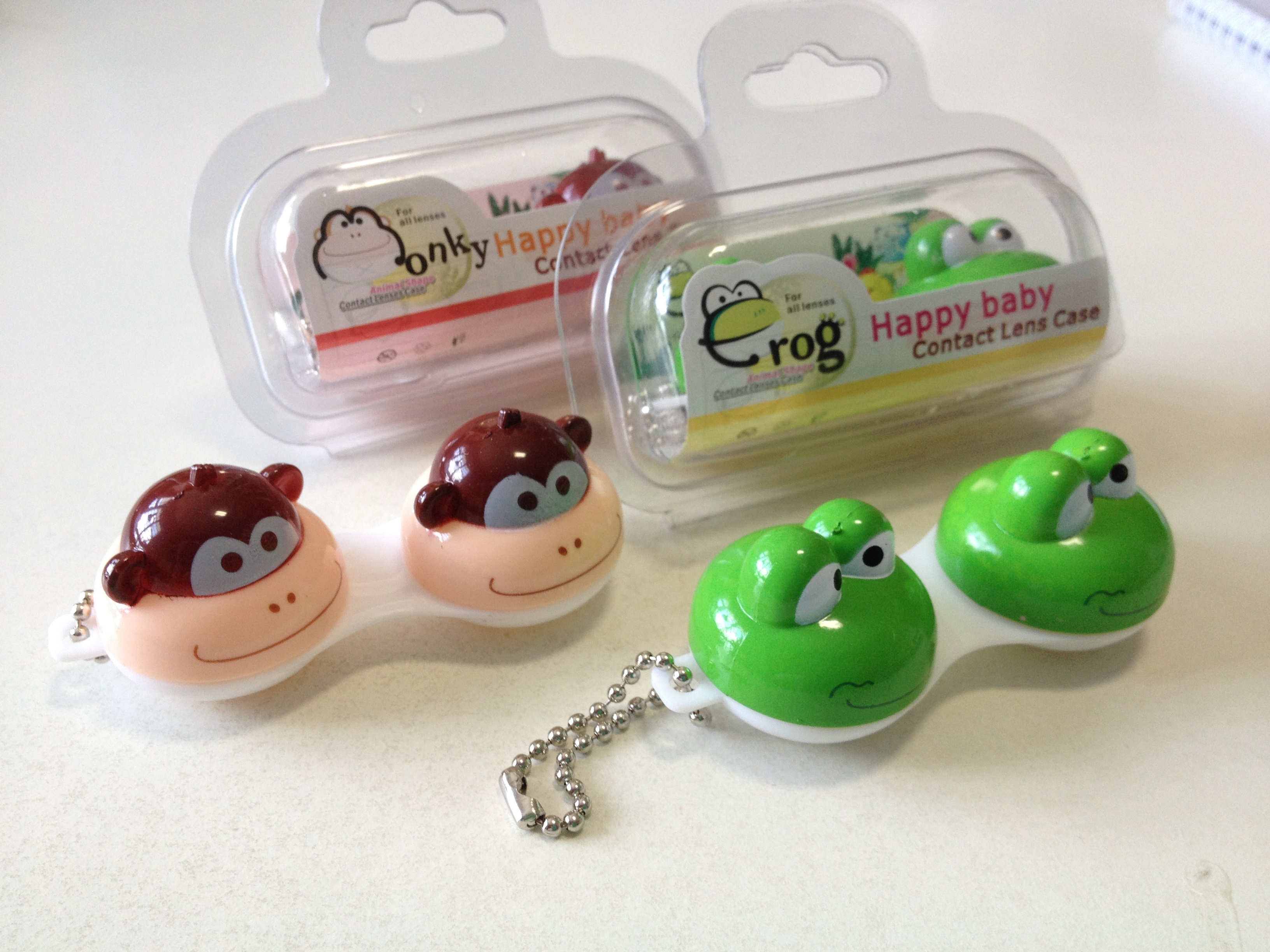Happy Cute Animals Contact Lens Case
