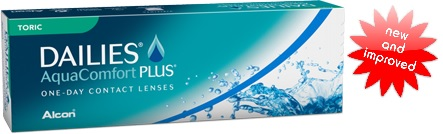 Dailies Aqua Comfort Plus Toric contact lenses