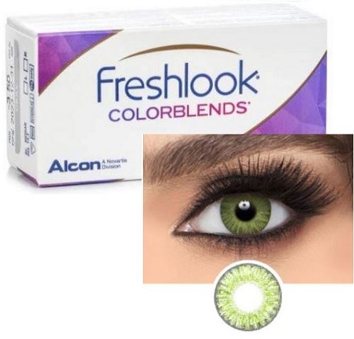Freshlook ColorBlends Gemstone Green / Green colors