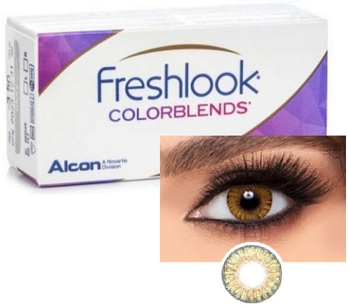Freshlook ColorBlends Pure Hazel / Honey colors