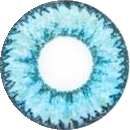 Geo Nudy Blue Circle Color Lens - CH622 Blue