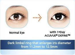 2c9d1346465 1-Day Acuvue Define 30 pk contact Lenses - ContactlensXchange - US 33.50